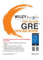 Wiley's ExamXpert The 45-Day GRE Vocab Book