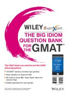 Wiley's ExamXpert The Big Idiom Question Bank for the GMAT