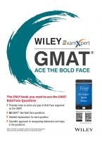 Wiley's ExamXpert GMAT Ace the Bold Face