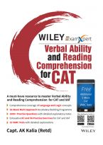 Wiley's ExamXpert Verbal Ability and Reading Comprehension for CAT