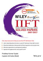 Wiley's ExamXpert IIFT (Indian Institute of Foreign Trade) Solved Papers 2007-2017