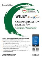 Wiley's ExamXpert Communication Skills for Campus Placements, 2ed