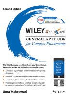 Wiley's ExamXpert General Aptitude for Campus Placements, 2ed