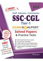 Wiley's SSC-CGL, Tier-1, Exam Goalpost, Solved Papers & Practice Tests, 2018