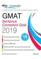 Wiley's GMAT Sentence Correction Grail 2019