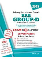 Wiley's RRB Group - D, Technical & Non - Technical, Exam Goalpost Solved Papers and Practice Tests, 2019