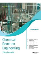 Chemical Reaction Engineering, 3ed (An Indian Adaptation)