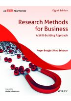 Research Methods for Business, 8ed, An Indian Adaptation: A Skill - Building Approach