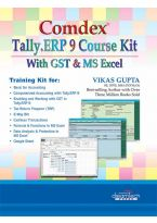 Comdex Tally.ERP 9 Course Kit with GST and MS Excel