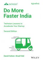 Do More Faster India, 2ed: Techstars Lessons to Accelerate Your Startup
