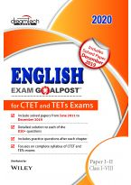 English Exam Goalpost for CTET and TETs Exams, Paper I - II, Class I - VIII, 2020