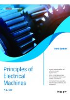 Principles of Electric Machines, 3ed, An Indian Adaptation