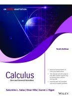 Calculus, 10ed, An Indian Adaptation: One and Several Variables