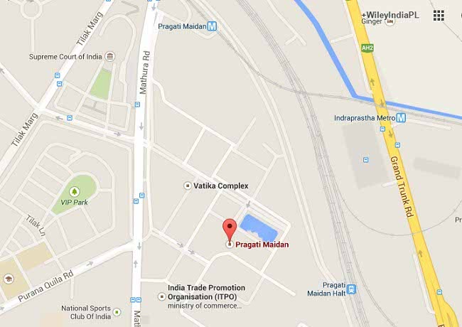 Pragati Maidan Map